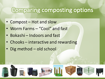What's the difference between composting, worm farming and bokashi